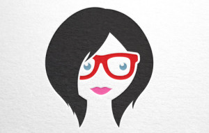eyeglasses on woman red2