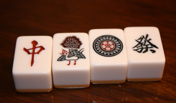 mahjong tiles art